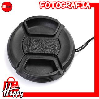 Tapa - Cubierta Para Lentes 58mm Canon/nikon/pentax/etc