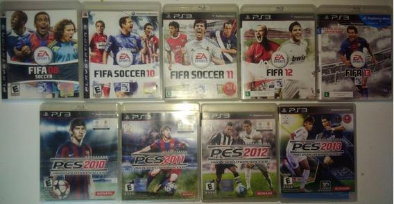 Coleção Pes E Fifa Ps3 Playstation3 Midia Fsica Original