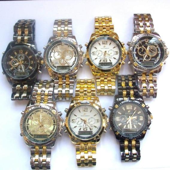 Relógio Masculino Potenzia Digital E Analogic,lote Com 8...