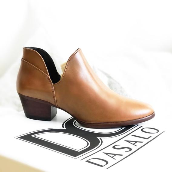 Zapato Botín De Dama Estilo Casual Y Vestir Fina Piel Vacuno