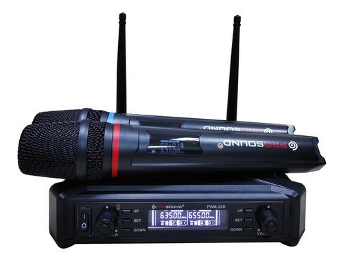 Prosound® Pwm-22d Sistema Inalámbrico Doble De Microfono