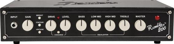 Cabeçote Amplificador Fender Rumble 200 Head V3 Semi-novo