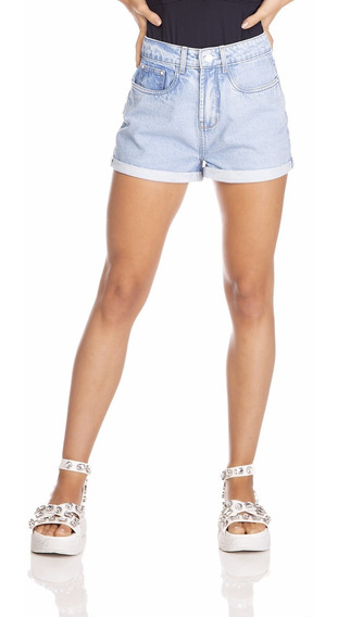 Shorts Jeans Denim Zero Setentinha Barra Dobrada-dz6383