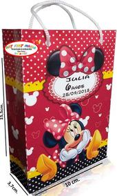 20 Sacolas Personalizadas Minnie Festa Sacolinhas Da Minie