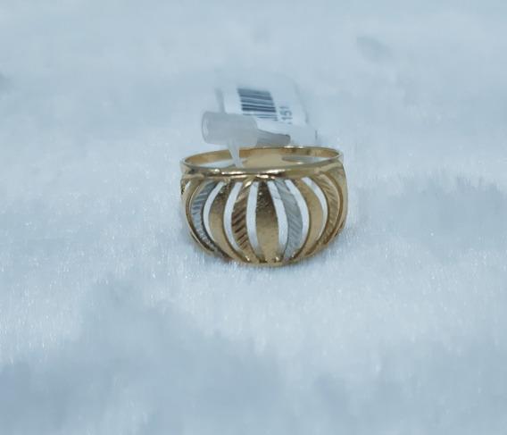 Anel Semijoias Dior Banhado A Ouro