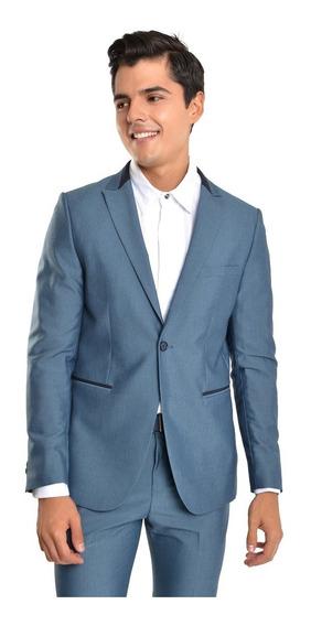 Saco Hombre Solapa Clásica Color Azul Lob