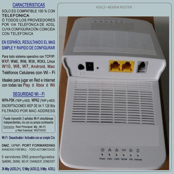 Modem / Router / Wifi Adsl2 Telefónica/telecom