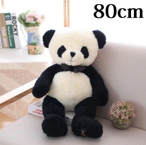 Urso Panda De 80cm Pelúcia Macia Antialergica Casa Dos Ursos