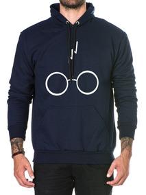 Blusa Blusão Moletom Harry Potter Algodão Unissex C/ Capuz