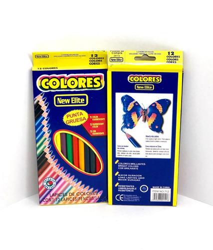 Lápices De Colores Largos X12 Ideal Licitacion Y Donacion