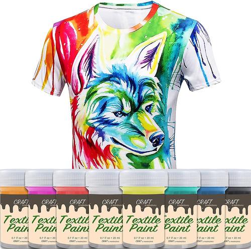Craft - Pintura Textil Y Tela  Juego De 8 X 0.7\xa0fl Oz