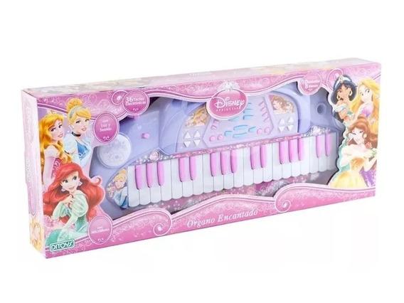 Piano Princesas Organo Encantado Con Microfono Ditoys Disney