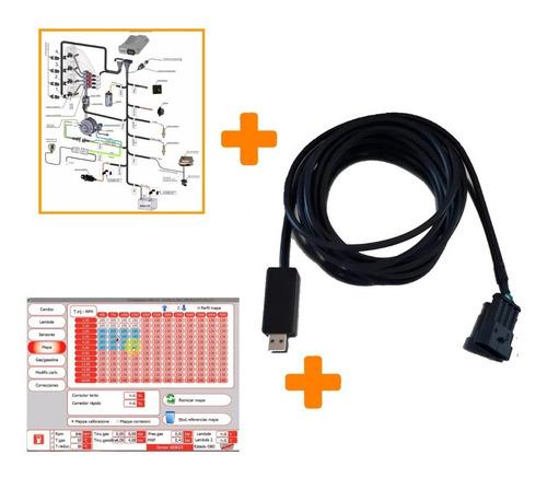 Interface Aeb Scanner Gnc 5ta Multimarca + Soft + Manuales