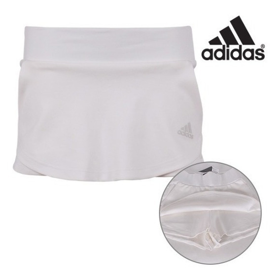 Short Falda adidas Para Tennis Zne Trans Skort Blanco