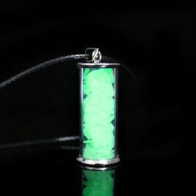 Colar Garrafa Dos Desejos Brilha No Escuro Fluorescente