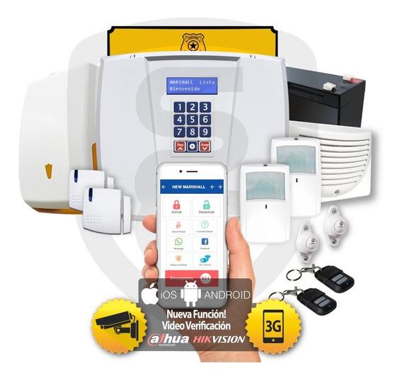 Kit Alarma Marshall 3 3t Gsm 3g Inalambrica Aplicación Celular Marshall App Comercio Domiciliaria Hogar Casa