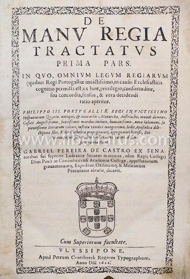 Livro Antigo - De Manv Regia Tractatvs + Decisiones 1621