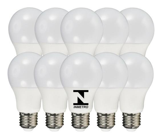 Kit 10 Lampada Led 16w Bulbo Soquete E27 Bivolt Casa Inmetro