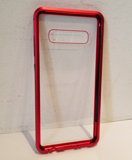 Capa Imantada Samsung S10 Plus Vermelha Imã S/ Vidro Frontal