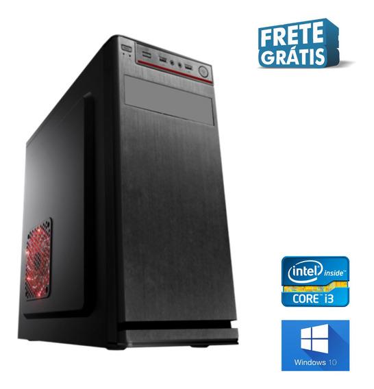 Computador I3 4gb Ssd 480gb Win10 Com Brindes - Nova Frete.