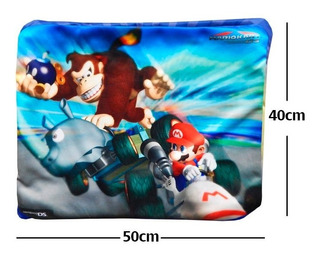 Funda De Almohada Super Mario Bros Kart Donkey Kong Calidad
