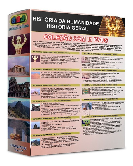Dvds História Da Humanidade 11 Dvds Coleção Original