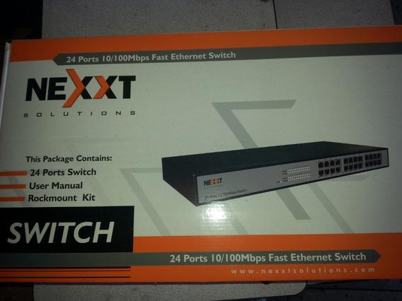 Switch De 24 Puertos 10/100 Mbps Nexxt Nuevo