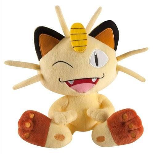 Meowth - Pelúcia Gato Pokemon Tomy