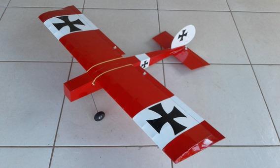 Aeromodelo Elétrico Stick Balsa Vermelho Entelado Montado
