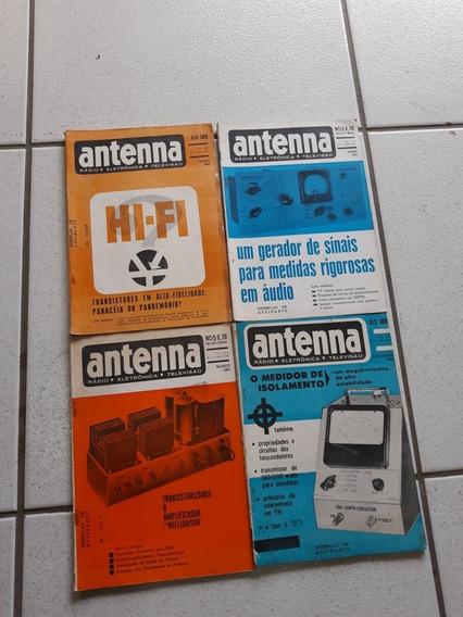 Antiga Revista Antenna Rádio Eletrônica Televisão Anos 60