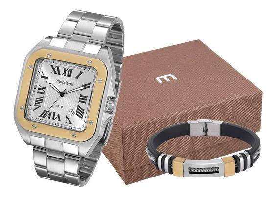 Kit Relógio Mondaine Masculino 78624gomvna1