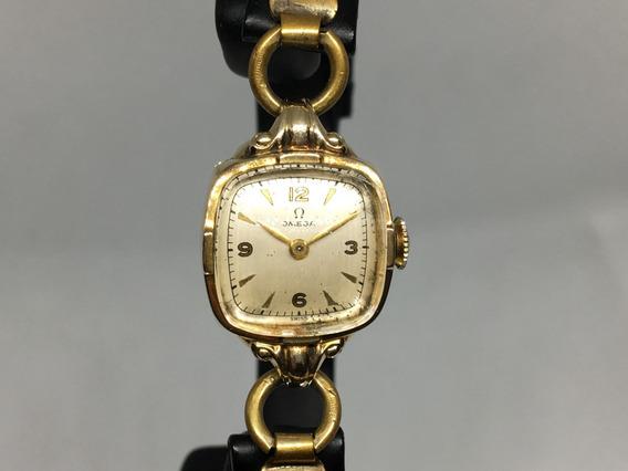 Reloj Omega Classique De Dama Cuerda Placa De Oro 40´s