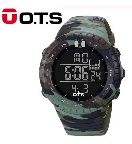 Relógio Masculino Ots 7005g Militar Frete Grátis Camuflado