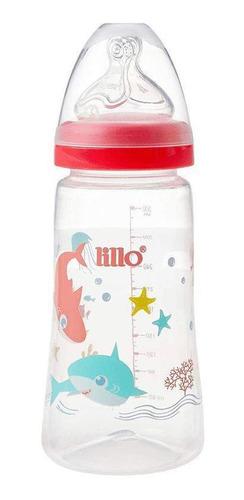 Mamadeira Design Smart 300ml Tubarões Rosa - Lillo