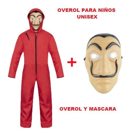Disfraz Casa De Papel Salvador Dali C/ Mascara Niño Purga