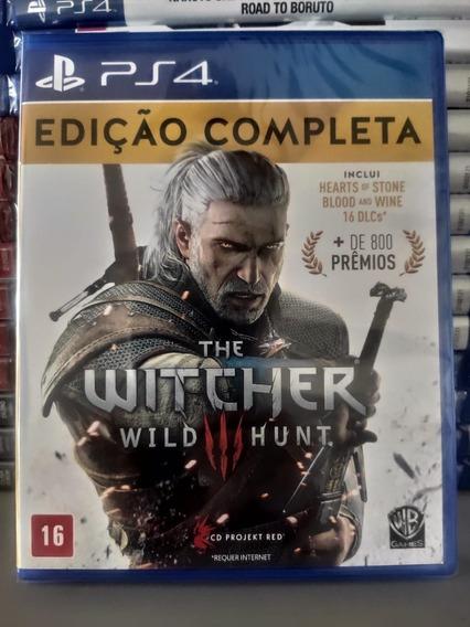 Ps4 The Witcher Complete Edition Mídia Física Novo Lacrado - Dublado Em Português