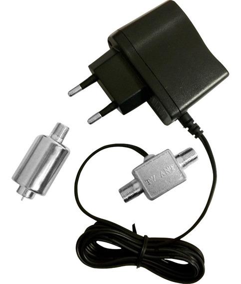 Mini Booster Compacto 40db Uhf - Pqbt-4000a Tv Digital Pro