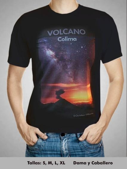 Playera Volcanica Volcan&vialactea Caballero