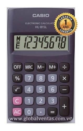 Calculadora Bolsillo Casio Original Hl-815l Garantia