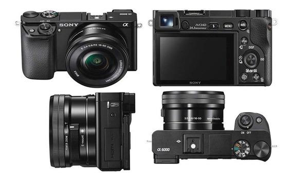 Câmera Sony A6000 Kit 16-50mm + Sd32gb + Case + Tripé