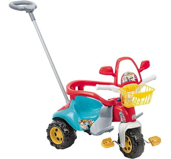 Triciclo Infantil Com Empurrador Meninos Bebê 1 Ano