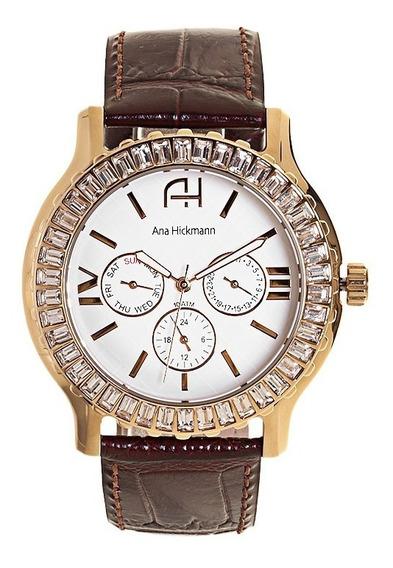 Relógio Ana Hickmann Ah30040b + Garantia De 1 Ano + Nf