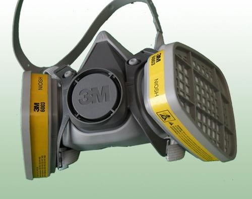 Respirador Doble Cartucho Contra Gases Mascara De Proteccion