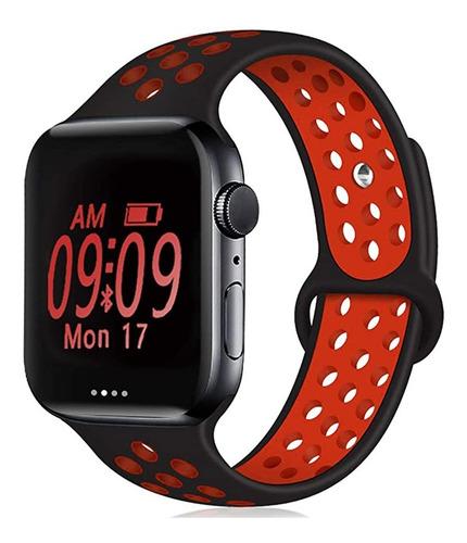 Imagen 1 de 2 de Malla Para Apple Watch Silicona 38/40 Y 42/44 Mm