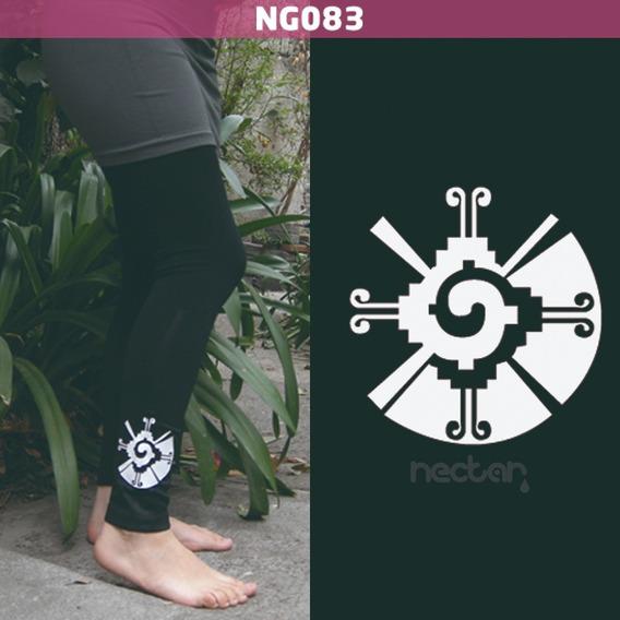 Leggings Con Imagen Hunab Ku Ng083 Algodón Negro