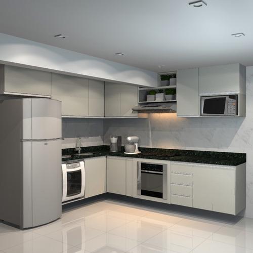 Plano De Corte 3d De Cozinha Detalhado Em Pdf