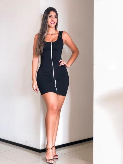 Vestido Feminino Com Ziper Lindo Moda Roupas Feminina