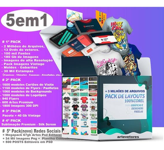 5 Em 1 Vetores Para Corel Draw Folder, Panfleto E Flyer Pro