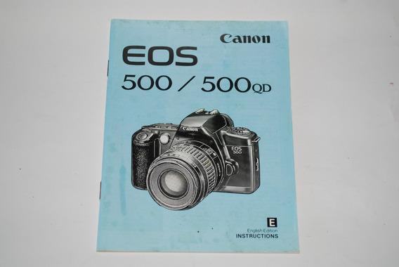 Manual De Instruções Canon Eos 500/500qd - Original