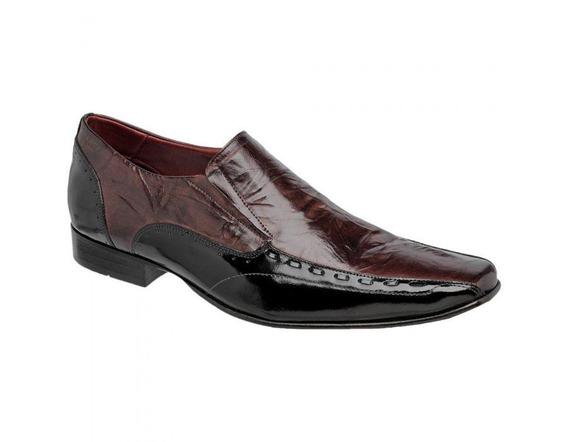 Sapato Social Masculino Couro 760420 - Frete Grátis